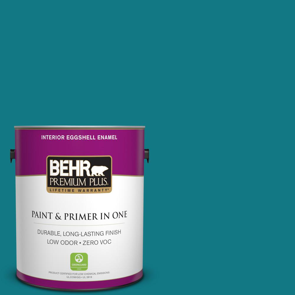 1-gal. #P470-7 The Real Teal Eggshell Enamel Interior Paint