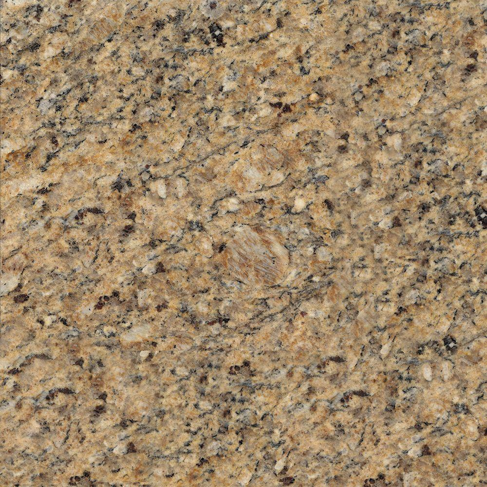 KraftMaid 4 in. x 4 in. Natural Granite Vanity Top Sample in New Venetian Gold
