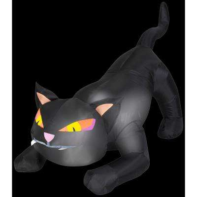 4 ft. W x 3 ft. H Inflatable Black Cat with Tail Up