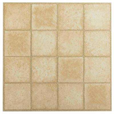 Tivoli Sandstone 12 in. x 12 in. Peel and Stick Square Pattern Vinyl Tile (45 sq. ft. / case)