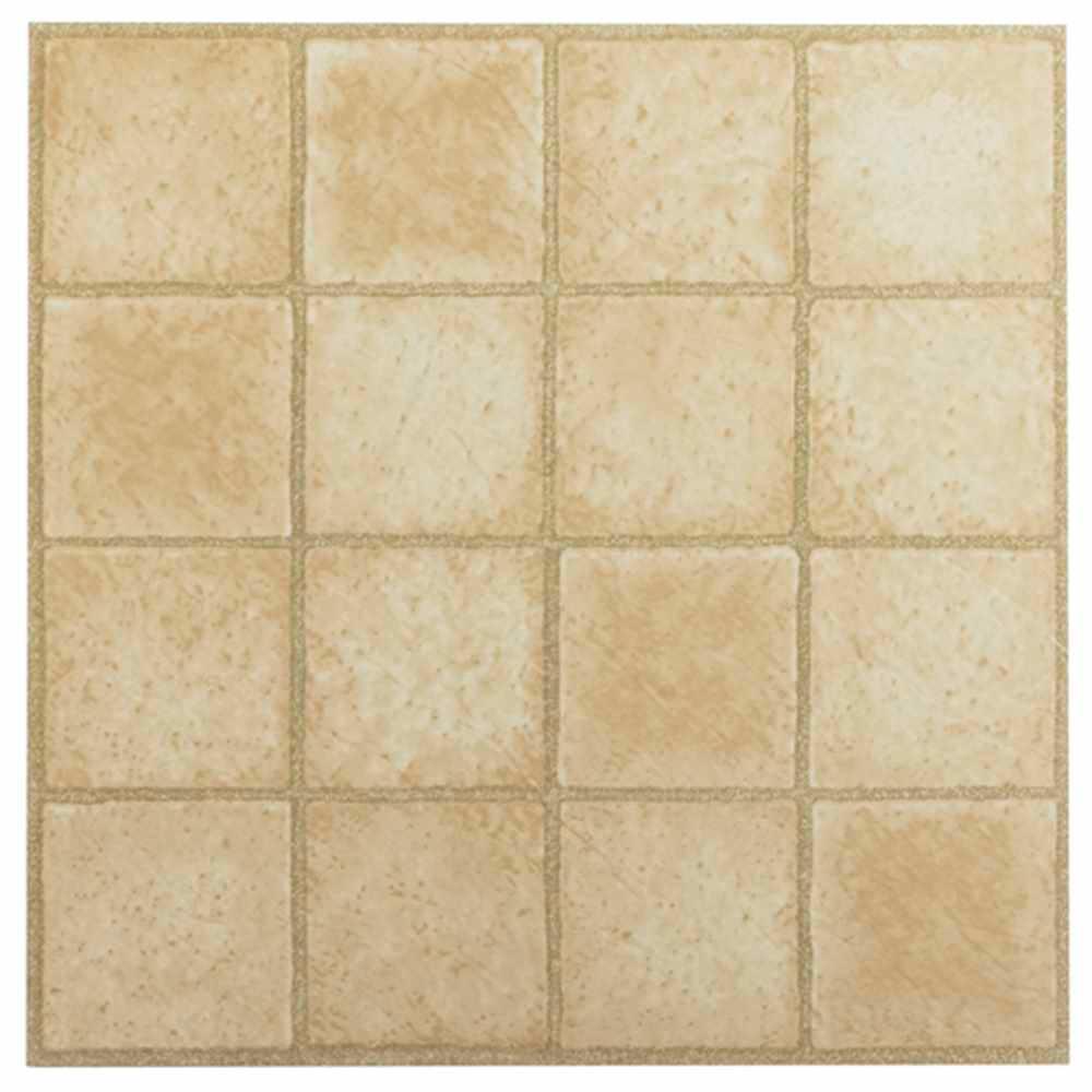 Nexus Sandstone 12 in. x 12 in. Peel and Stick Square Pattern Vinyl Tile (20 sq. ft. / case)