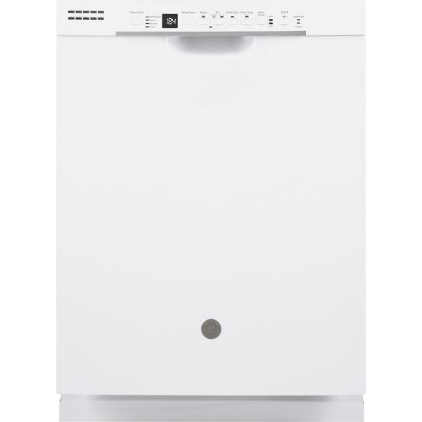 24 in. Front Control Built-In Tall Tub Dishwasher in White with Stainless Interior Door and 3rd Rack, 50 dBA