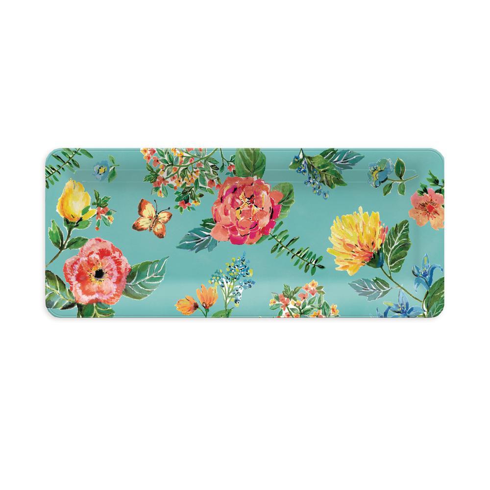 Garden Floral Rectangular Platter