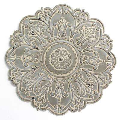Small Grey Medallion Wall Decor