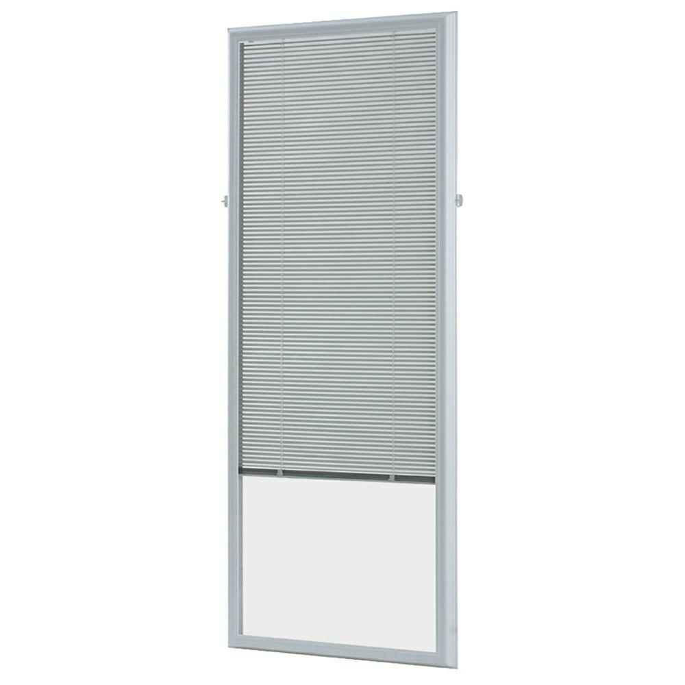 ODL 20 in. x 64 in. Add-On Enclosed Aluminum Blinds in White for ...