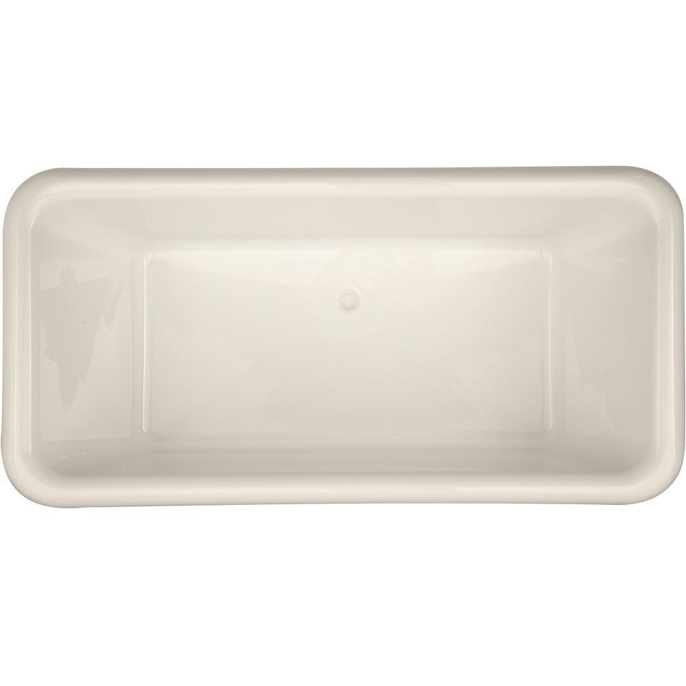Donatello 5.6 ft. Acrylic Flatbottom Non-Whirlpool Freestanding Bathtub in White