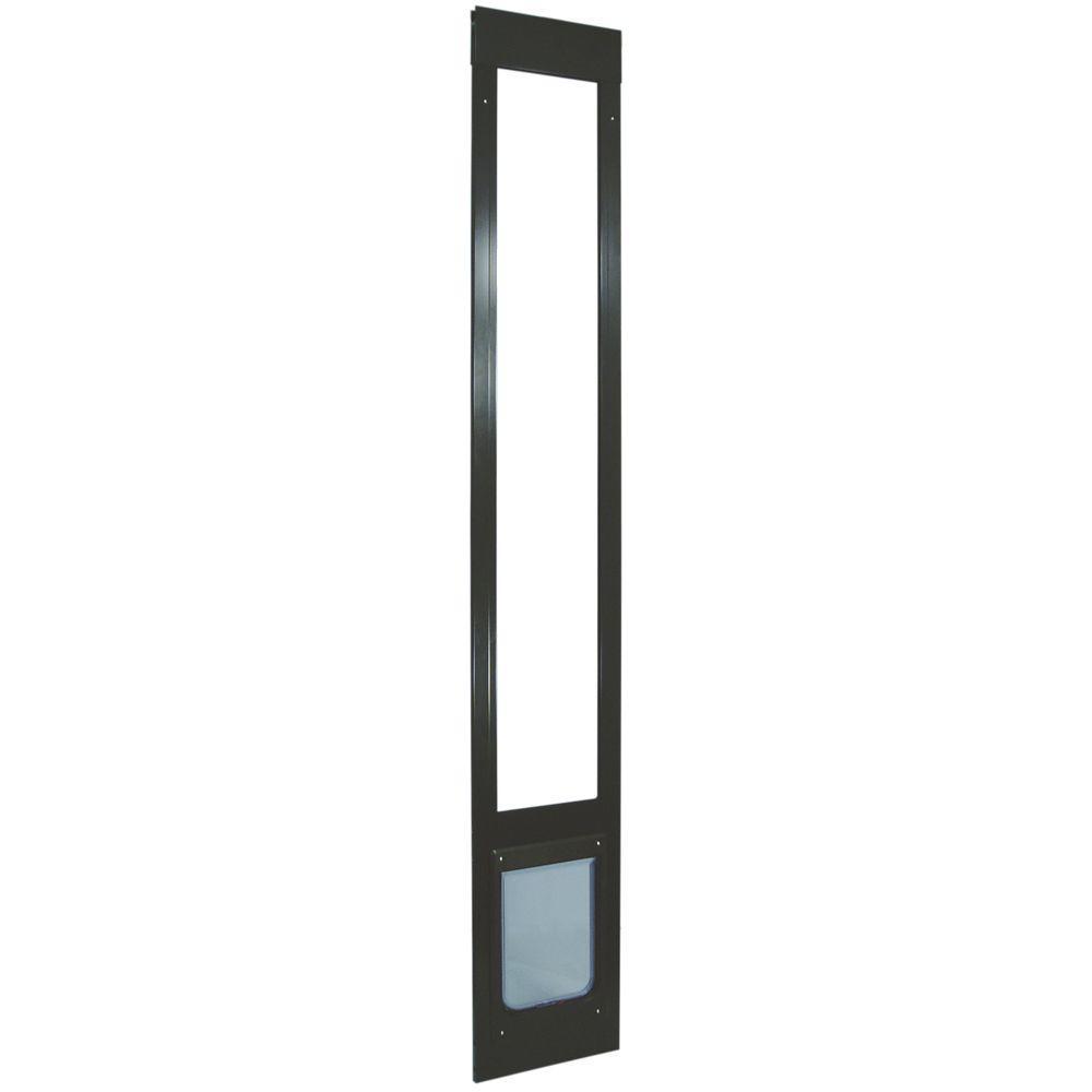 Ideal Pet 7.5 in. x 10.5 in. Medium Chubby Kat Aluminum Pet Patio Door Fits 75 in. to 77.75 in. Tall Alum Slider-DISCONTINUED