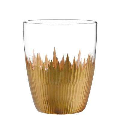 Lava Gold 12 oz. Double Old Fashioned Glass (4-Piece Set)