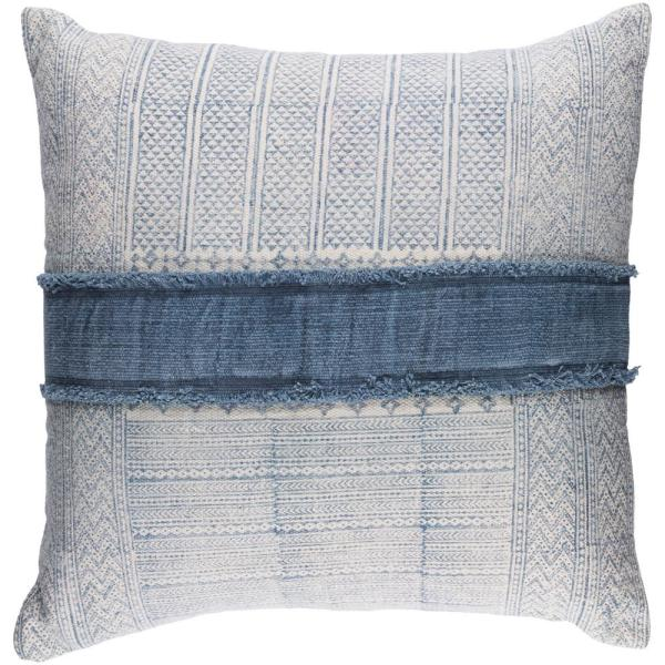 Culpeper Navy Solid Polyester 3In. x 3In. Throw Pillow