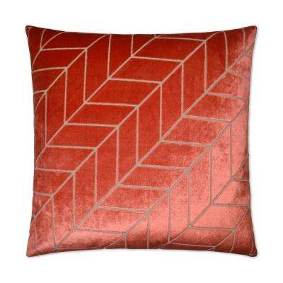 Villa Coral Feather Down 24 in. x 24 in. Decorative Throw Pillow