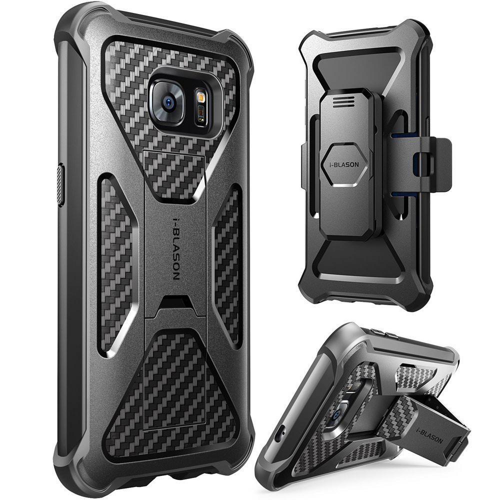 Galaxy S7 Prime Series Kickstand Case and Holster - Black