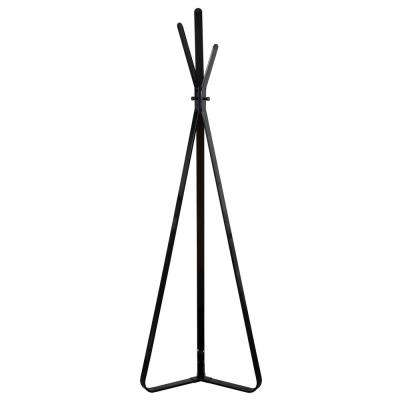 Mason 73.6 in. Black 3-Hook Contemporary Metal Coat Rack