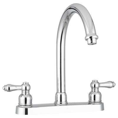 2-Handle Standard Kitchen Faucet with Hi-Arcing Spout in Chrome