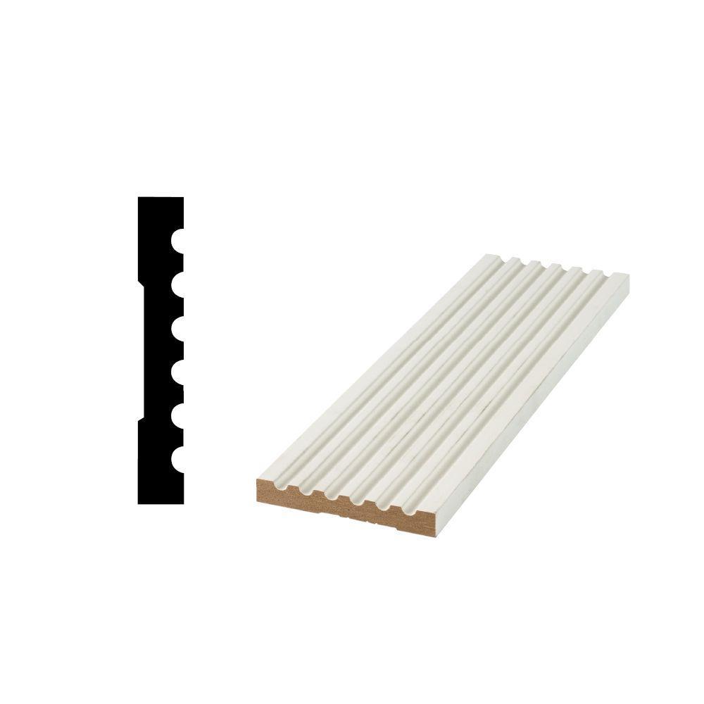 WG 1002 15/32 in. x 3-9/16 in. x 96 in. Primed Medium Density Fiberboard Fluted Casing