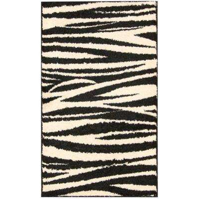 Perception Black/White 2 ft. 3 in. x 3 ft. 9 in. Accent Rug