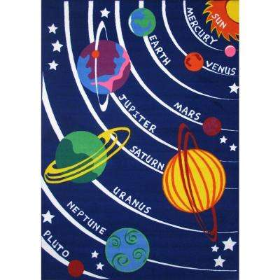 Fun Time Solar System Multi Colored 8 Ft X 11 Area Rug