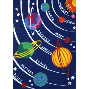 LA Rug Fun Time Solar System Multi Colored 31 inch x 47 inch Accent Rug by LA Rug