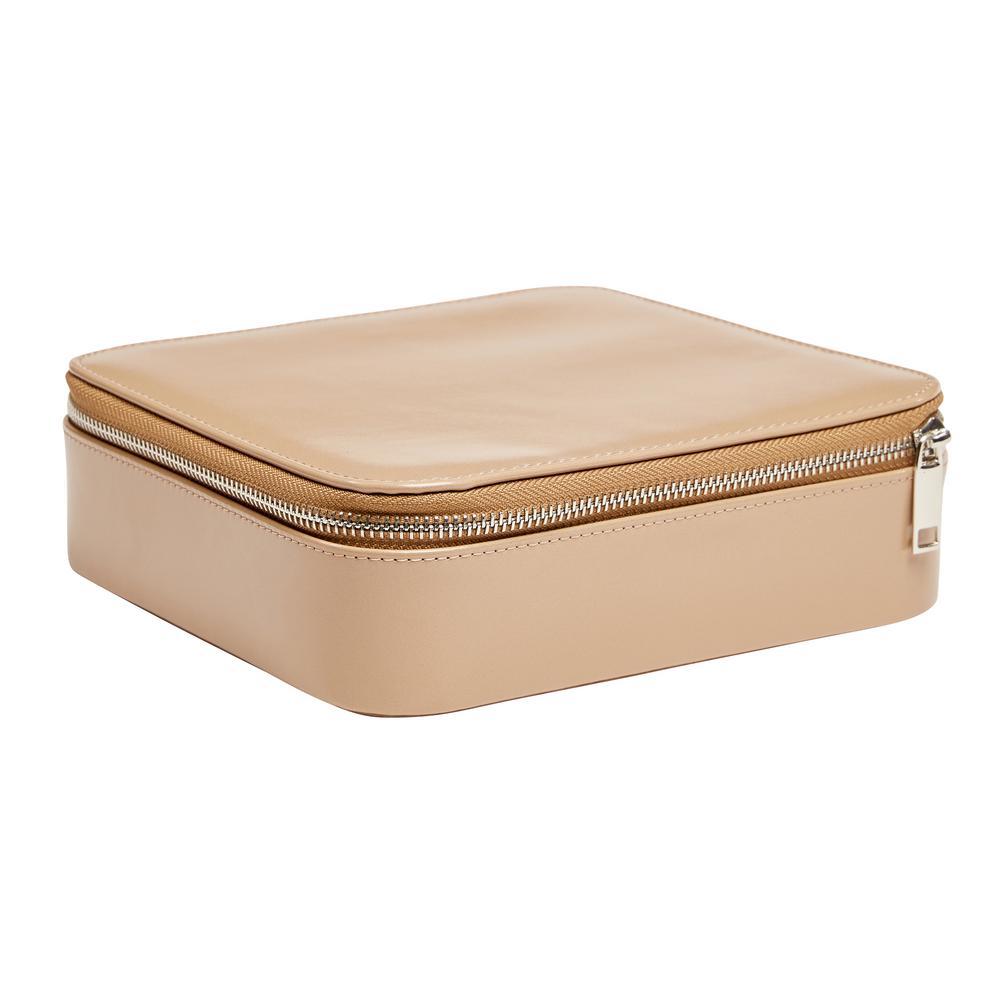 Gracie Tan Faux Leather Jewelry Box