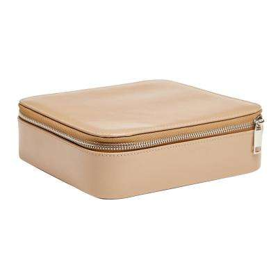 Gracie Tan Faux Leather Jewelry Box