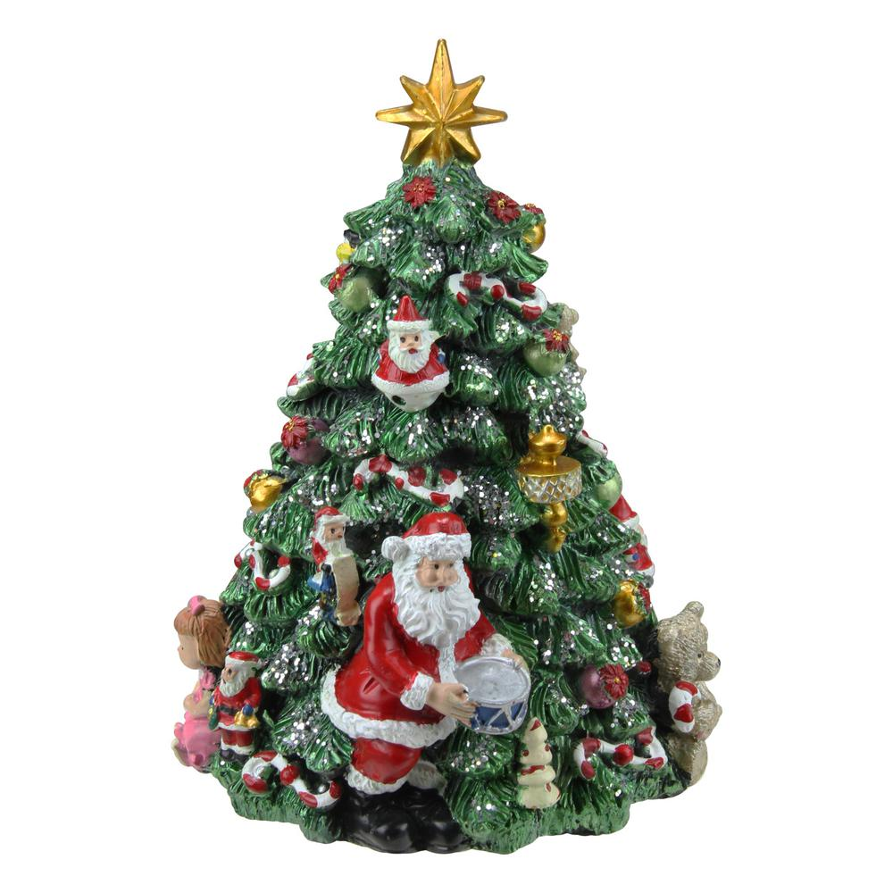 Northlight 6.25 in. Musical Rotating Christmas Tree Music ...