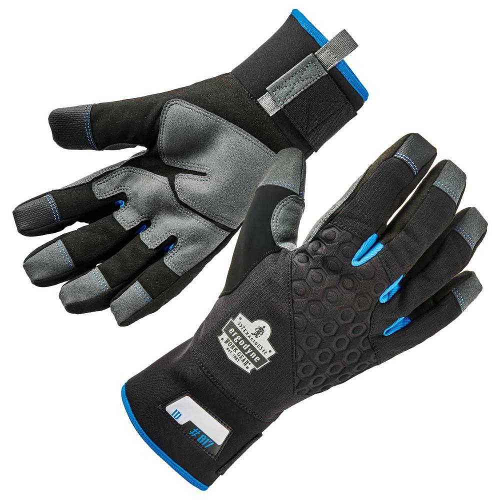 ProFlex 817 Large Black Reinforced Winter Work Gloves