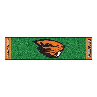 NCAA Oregon State University 1 ft. 6 in. x 6 ft. Indoor 1-Hole Golf Practice Putting Green
