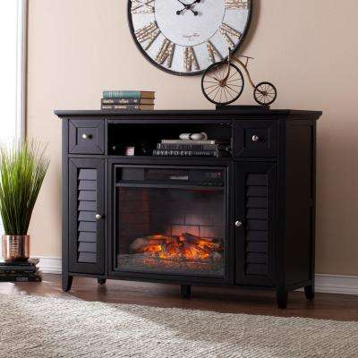 Kennison 48 in. 3-in-1 Infrared Media Fireplace Console in Black
