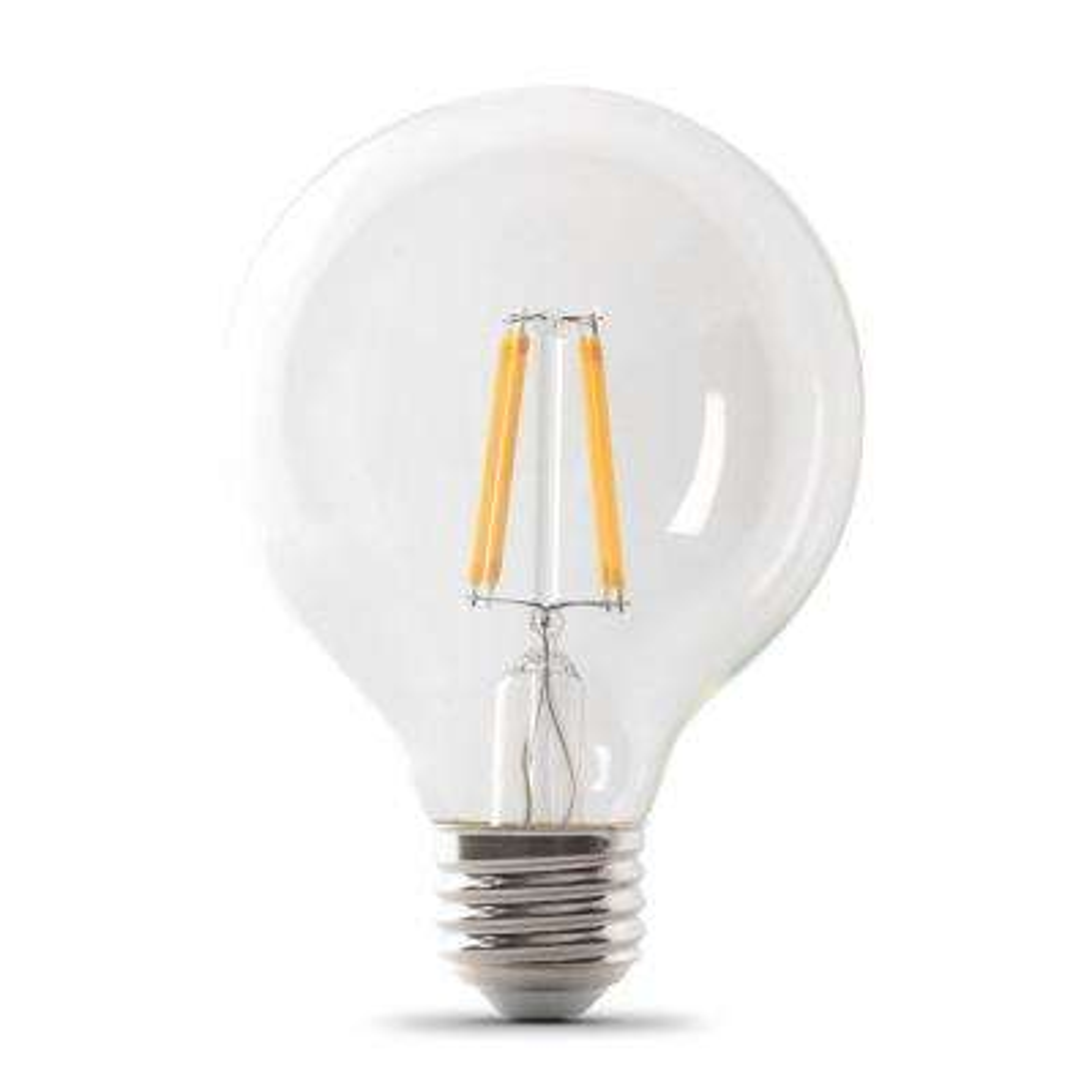25-Watt Equivalent G25 Dimmable Filament ENERGY STAR Clear Glass LED Light Bulb, Soft White