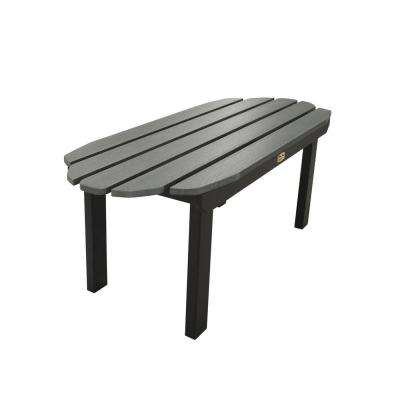 Essential Flint Rectangular Recycled Plastic Outdoor Coffee Table