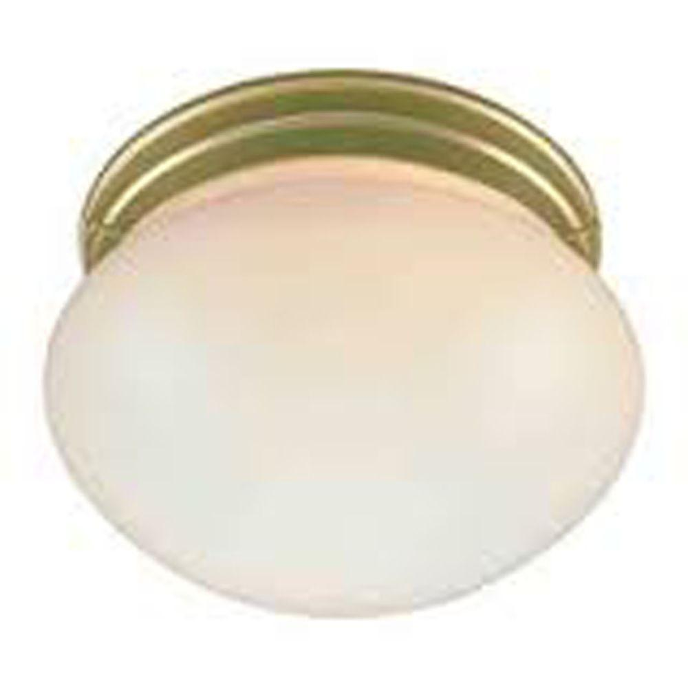 Lenor 1-Light Polish Brass Incandescent Ceiling Flush Mount