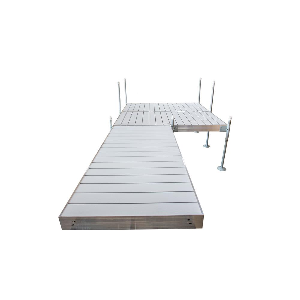 Tommy Docks 16 ft. Platform-Style Aluminum Frame with Aluminum Decking Platinum Series Complete Dock Package
