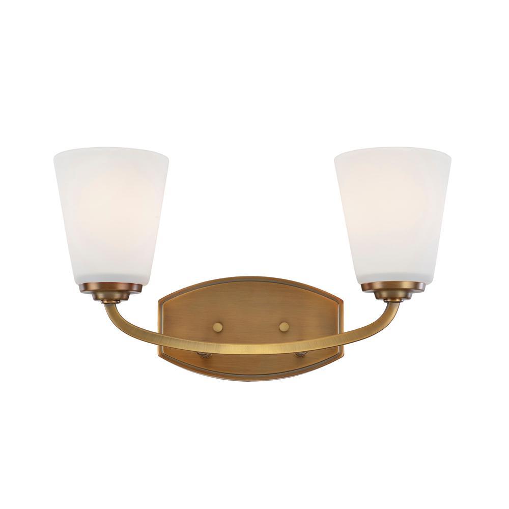 2-Light Vintage Brass Sconce