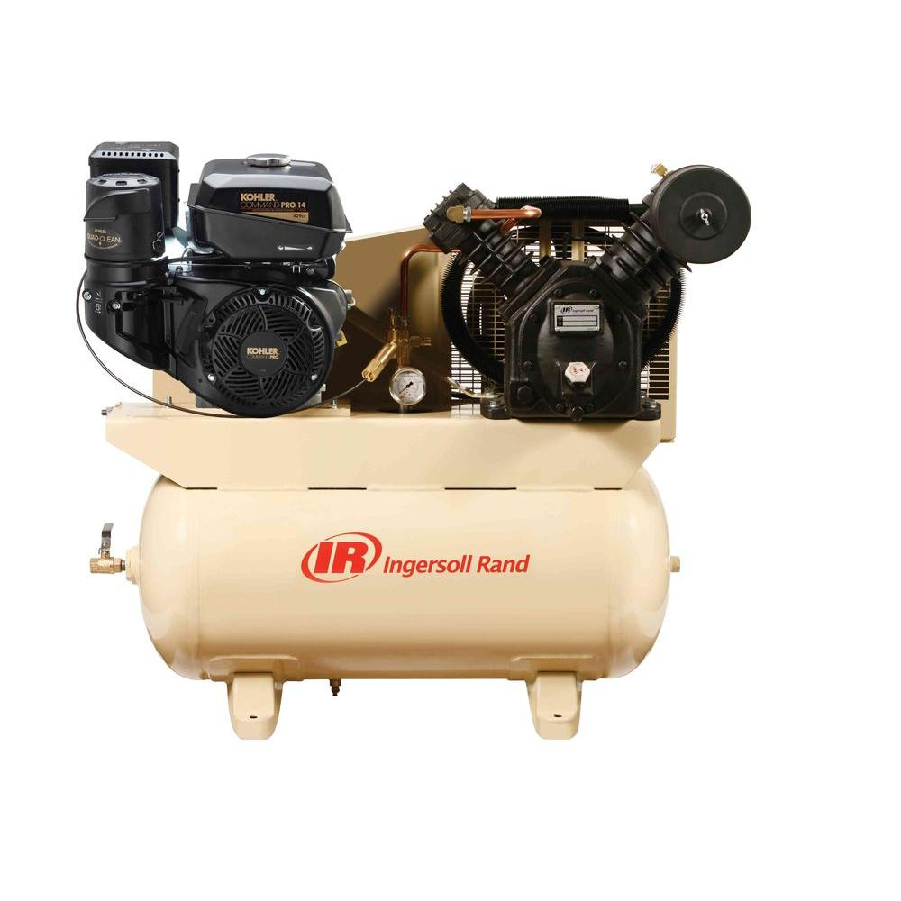 Ingersoll Rand Type 30 Reciprocating 30 Gal. 14 HP Gas Truck Mount Air  Compressor
