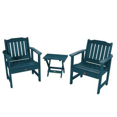 Lehigh Nantucket Blue 3-Piece Recycled Plastic Outdoor Conversation Set