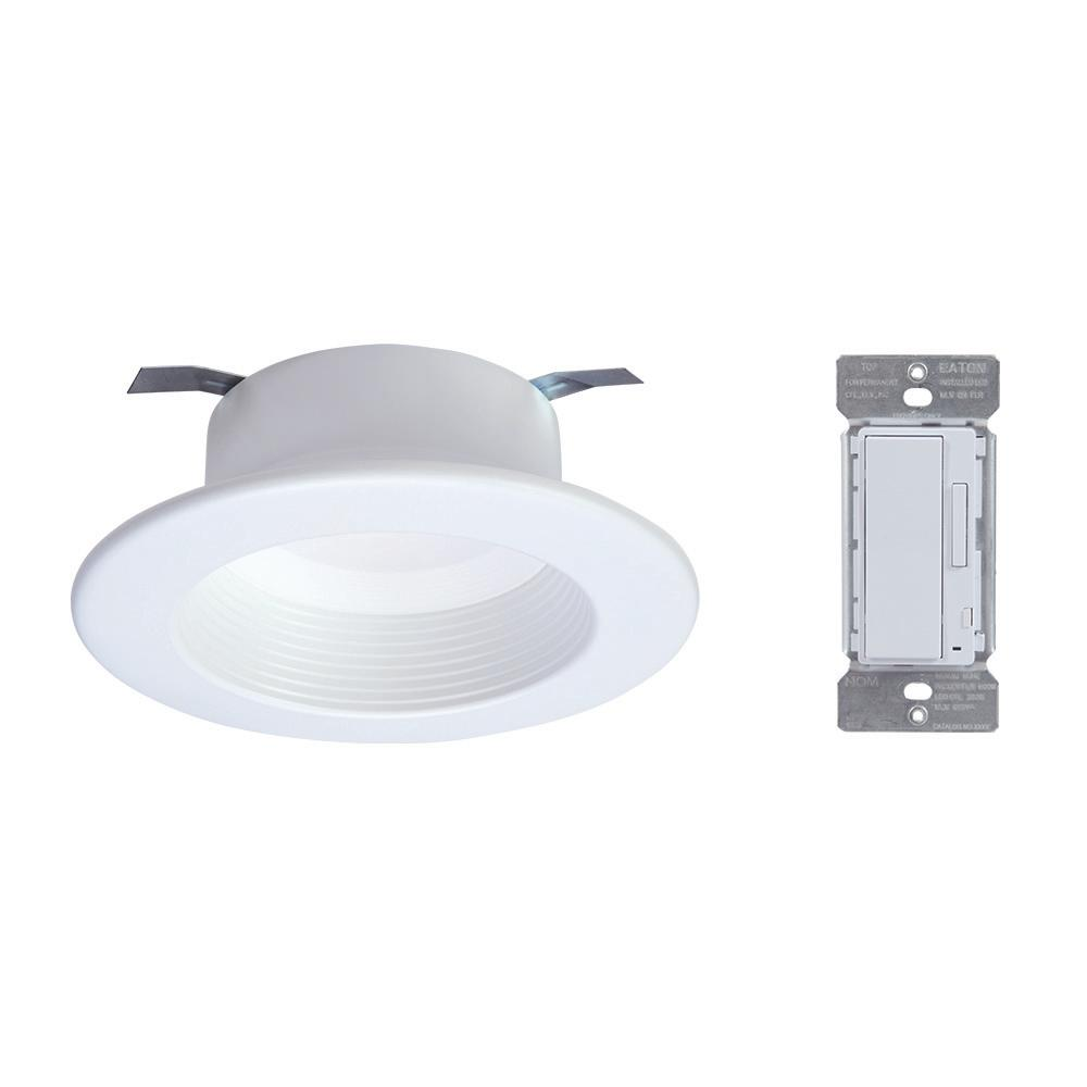 Halo 4 in. Tunable CCT (2700K-5000K) Bluetooth Smart Integrated LED Recessed Trim with In-Wall Accessory Dimmer by Home was $70.03 now $27.97 (60.0% off)