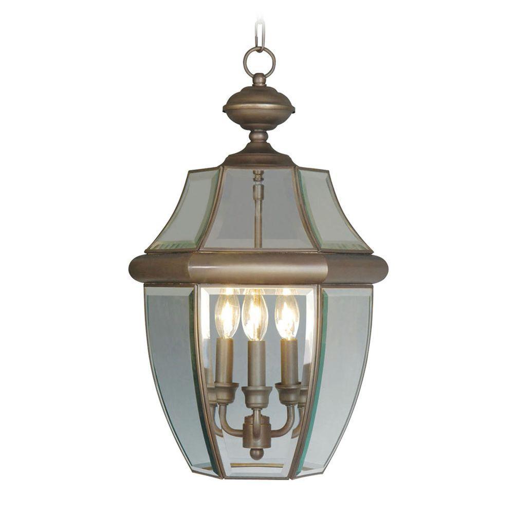 Livex Lighting Providence 3-Light Bronze Outdoor Hanging Pendant