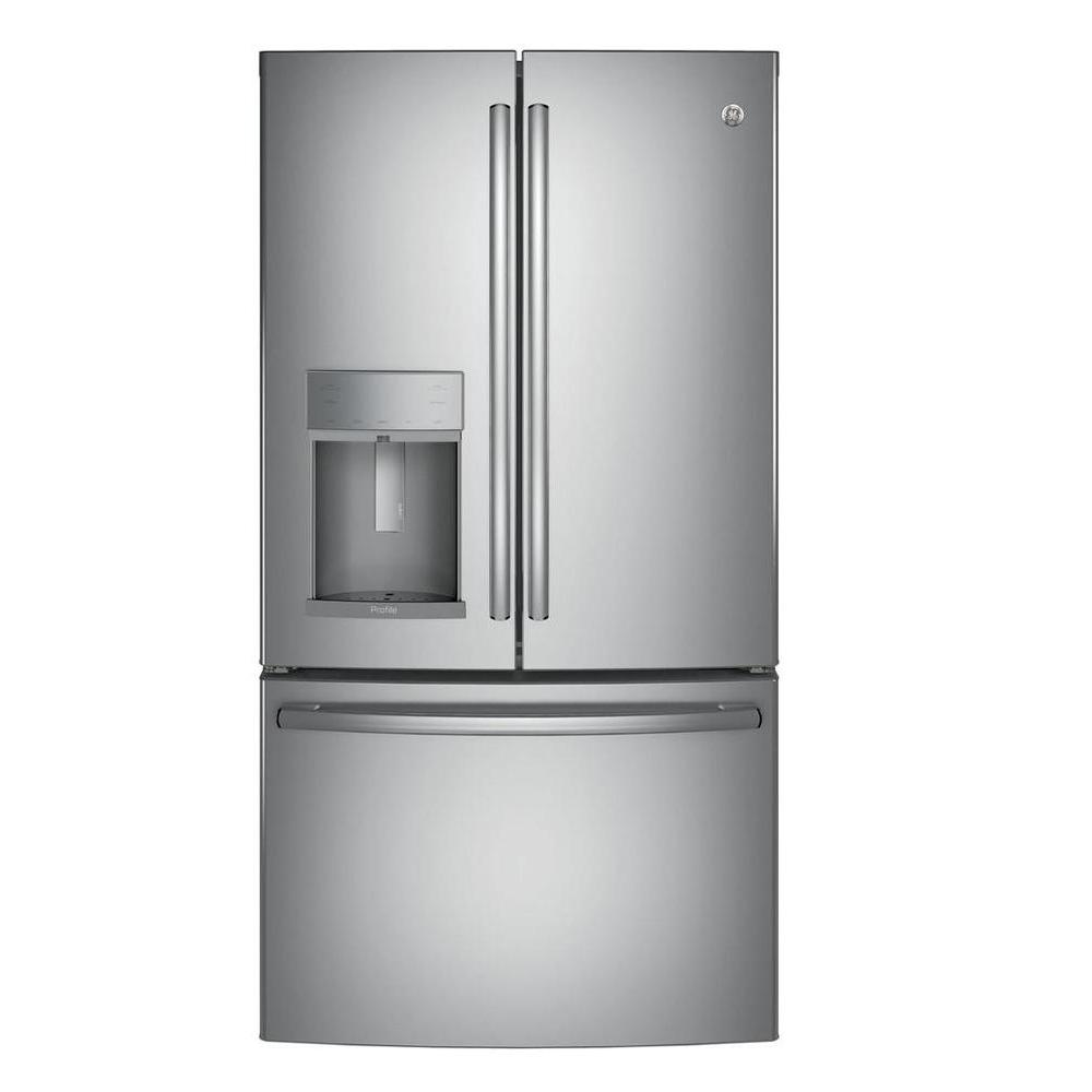 35.75 in. W 27.8 cu. ft. French Door Refrigerator with Hands