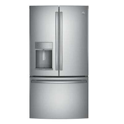 35.75 in. W 27.8 cu. ft. French Door Refrigerator with Hands Free Autofill in Stainless Steel, ENERGY STAR