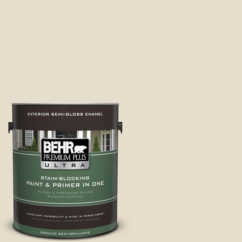 BEHR Premium Plus Ultra 1-gal. #ECC-21-1 Desert Plain Semi-Gloss Enamel Exterior Paint