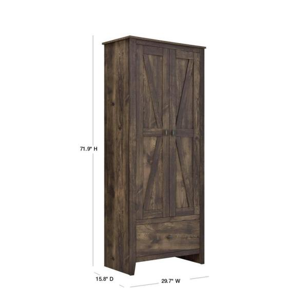 Systembuild Brownwood 30 In W Storage, Rustic Storage Cabinets