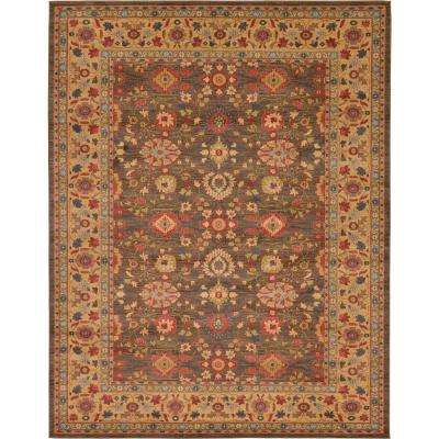 Heritage Light Brown 10 ft. x 13 ft. Area Rug