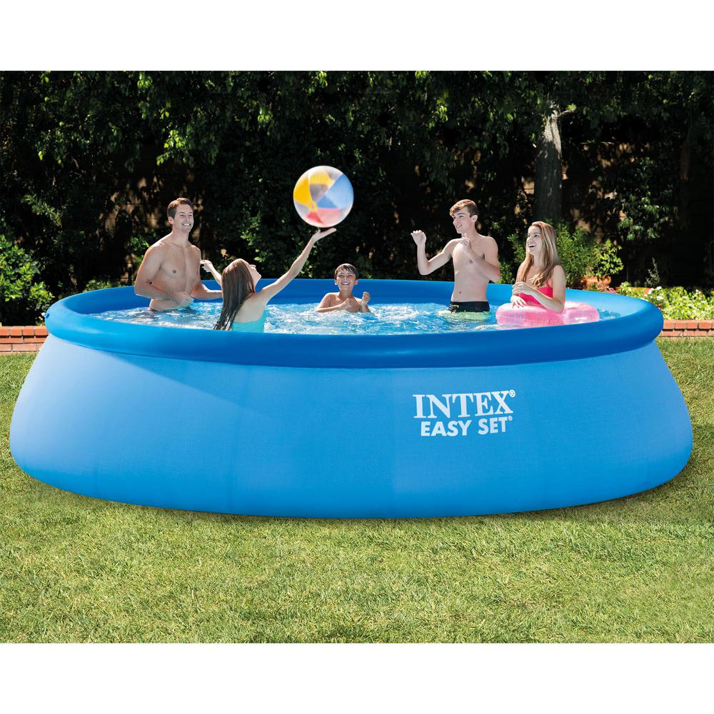 15 ft. x 42 in. Inflatable Easy Set Swimming Pool with Ladder and Pump  (2-Pack)