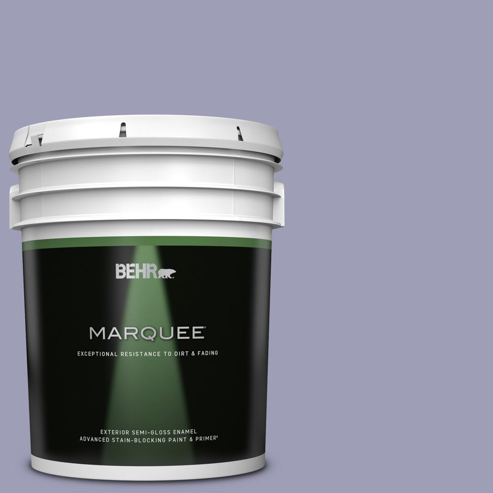 Behr Marquee 5 Gal 630f 4 Wild Thistle Semi Gloss Enamel Exterior Paint Primer 545405 The Home Depot