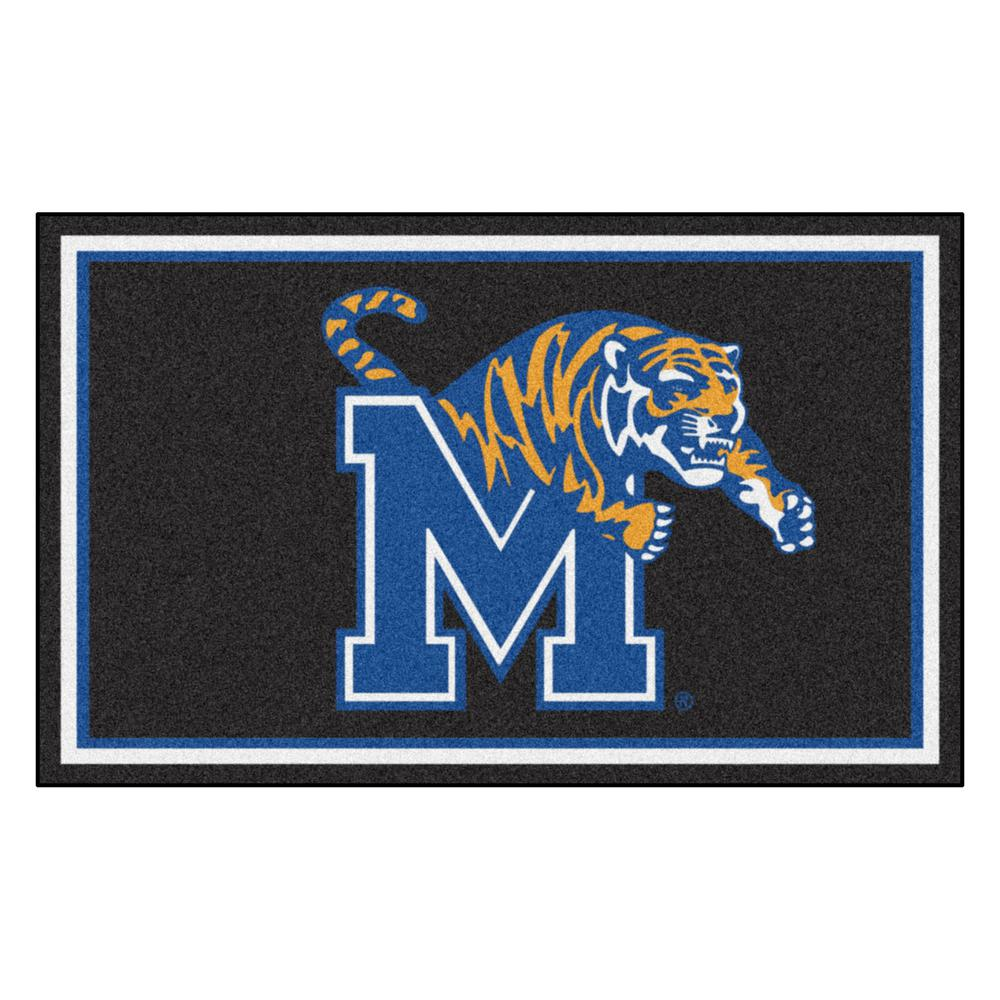 Fanmats Ncaa University Of Memphis Black 6 Ft X 4 Ft