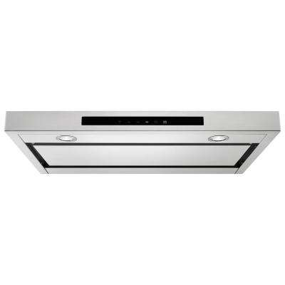 30 in. Low Profile Under Cabinet Ventilation Hood with Light in Stainless Steel