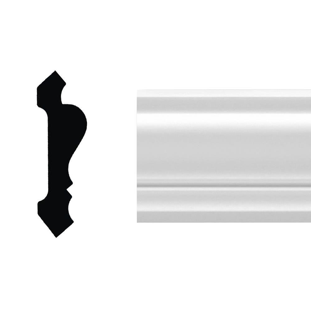 1 in. x 3-1/2 in. x 96 in. Primed Polyurethane Hanover
