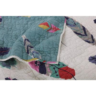 Dream Catcher Multicolored Quilted Cotton Throw