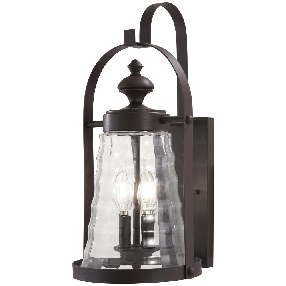 The Great Outdoors Sycamore 4-Light Dorian Bronze Outdoor Wall Lantern Sconce