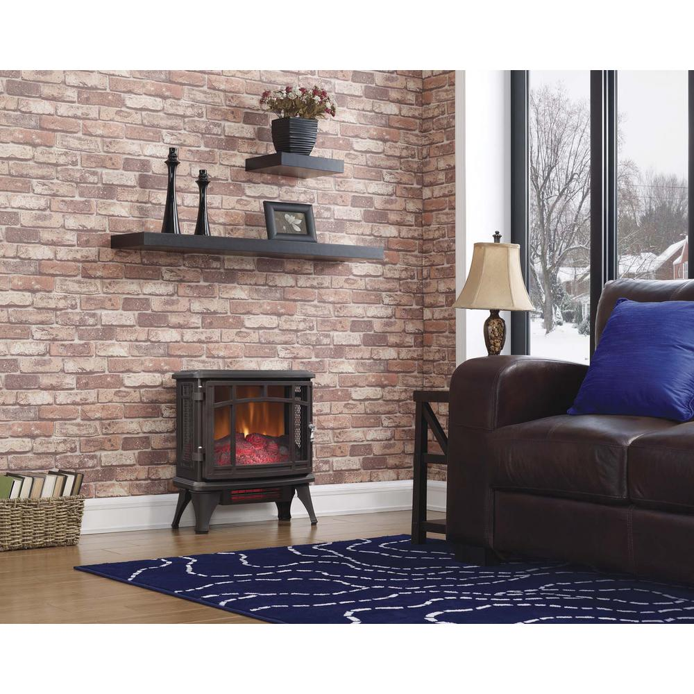 duraflame 1000 sq ft infrared electric fireplace stove with