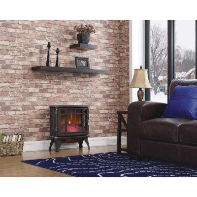 1000 sq. ft. Infrared Electric Fireplace Stove with Remote Control in Bronze